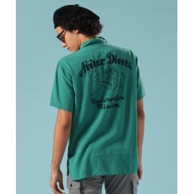(AVIREX/アヴィレックス)ボーリングシャツ アヴィレックス ダイバーズ/BOWLING SHIRT AVIREX DIVERS/メンズ E/GREEN 送料無料