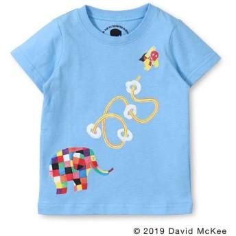 【40%OFF】 ブランシェス エルマーとスーパーゾウマンプリントTシャツ(90~130cm) レディース ブルー 100cm 【branshes】 【セール開催中】