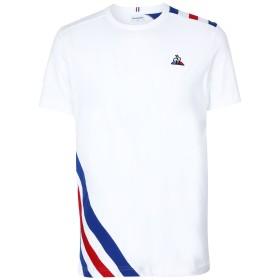 《期間限定 セール開催中》LE COQ SPORTIF メンズ T シャツ ホワイト S コットン 100% TRI Tee SS N°10