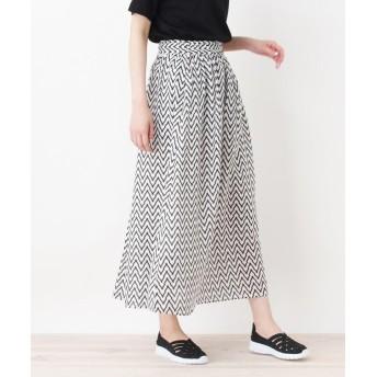 HusHusH(Ladies)(ハッシュアッシュ(レディース)) ジオメ柄マキシスカート