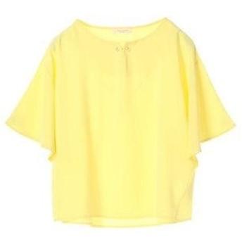 グリーンパークス Green Parks フロントパール7分袖プルオーバー (Yellow)