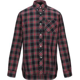 《期間限定 セール開催中》FRED PERRY メンズ シャツ ブラック 38 コットン 100%