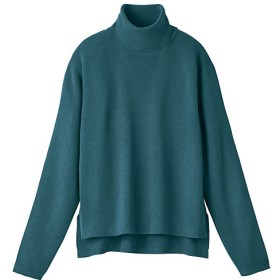 70%OFF【レディース】 タートルネックニット(洗濯機OK) - セシール ■カラー:アンティックブルー ■サイズ:3L