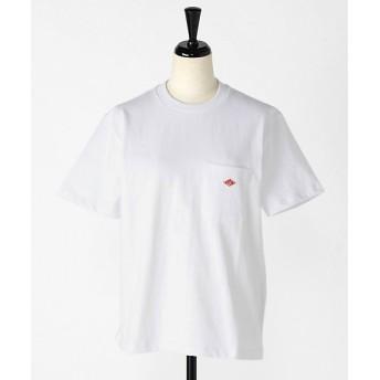 DANTON ダントン 丸首ポケットTシャツ レディース