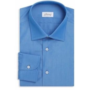 ブリオーニ Men Clothing Long-Sleeve Cotton Dress Shirt