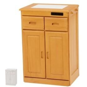 キッチンカウンター 天然木 タイル天板 キャスター付 幅47cm ( 送料無料 カウンター キッチン タイル キャスター 天然 収納 キッチン収