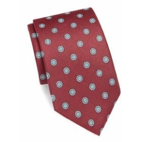 サックスフィフスアベニュー メンズ ネクタイ Medallion-Print Silk Tie