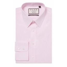 トーマスピンク Men Clothing Kasper Spot Cotton Dress Shirt