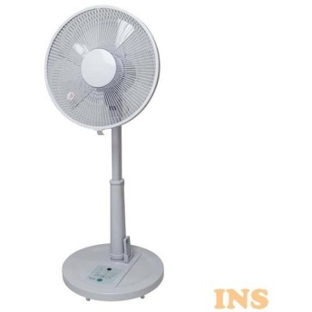 リビングリモコン扇風機 フラットガード ホワイト KI-168R TEKNOS (D)(B)