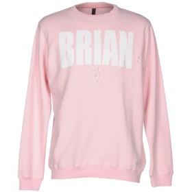 《期間限定 セール開催中》IMB I'M BRIAN メンズ スウェットシャツ ピンク XXL コットン 100%