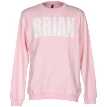 《9/20まで! 限定セール開催中》IMB I'M BRIAN メンズ スウェットシャツ ピンク XXL コットン 100%