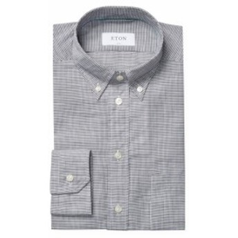イートン Men Clothing Cotton Dress Shirt