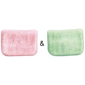 ボアクロス2枚組(水だけで油汚れがスッキリ) - セシール ■カラー:ピンク&グリーン) A(ホワイト&ブルー) B(イエロー&ブラウン