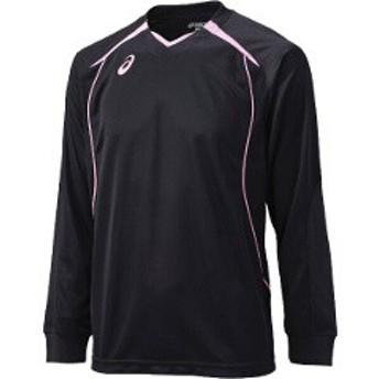 アシックス ASICS バレーボール用 プラシャツHS XW6607 [カラー:ブラック×ピーチ] [サイズ:S] #XW6607 スポーツ・アウトドア