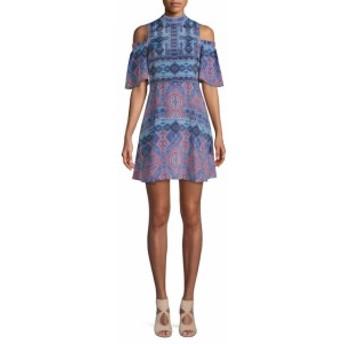 ファースト サイト レディース ワンピース Printed Cold-Shoulder Dress