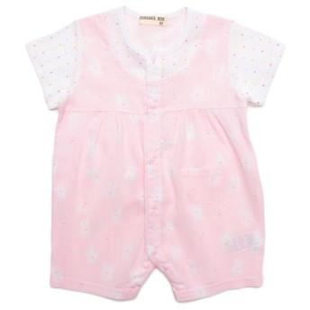 クレープ半袖ロンパス ピンク 女の子 乳児 アウター グレコ ロンパース 3375