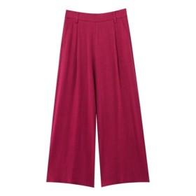 麻レーヨンワイドパンツ (レディースパンツ),pants