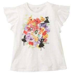 綿100%シルエット柄前後プリントTシャツ(女の子 子供服) Tシャツ・カットソー