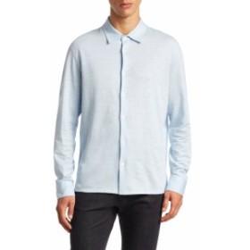 ルチアーノバーバラ Men Clothing Oxford Pique Cotton Sportshirt