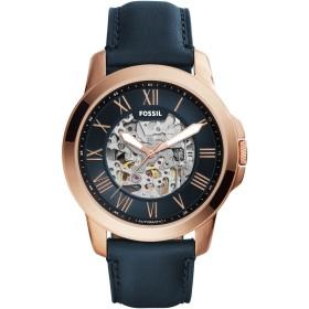 《期間限定セール開催中!》FOSSIL メンズ 腕時計 ダークブルー ステンレススチール / 革 GRANT