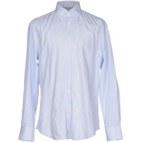 《期間限定 セール開催中》BRUNELLO CUCINELLI メンズ シャツ スカイブルー S コットン 100%