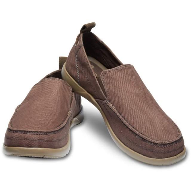 【クロックス公式】 ワルー スリップオン メン Men's Walu Slip-On メンズ、紳士、男性用 ブラウン/茶 25cm,26cm,27cm,28cm,29cm loafer ローファー 靴 30%OFF