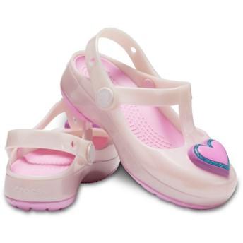 【クロックス公式】 クロックス イザベラ チャーム クロッグ キッズ Kids' Crocs Isabella Charm Clog ガールズ、キッズ、子供用、女の子 ピンク/ピンク 15.5cm,16.5cm,17.5cm clog クロッグ サンダル