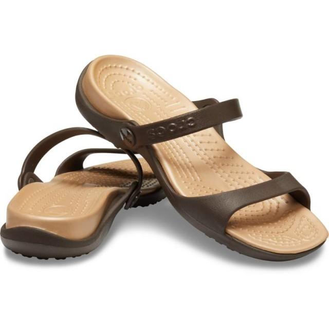 【クロックス公式】 クレオ サンダル Women's Cleo Sandal ウィメンズ、レディース、女性用 ブラウン/茶 21cm,22cm,23cm,24cm,25cm sandal サンダル