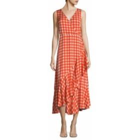 ダイアンフォンファステンバーグ レディース ワンピース Silk Gingham Midi Dress