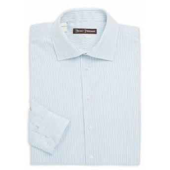 ヒッキーフリーマン Men Clothing Classic-Fit Striped Cotton Dress Shirt