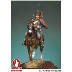 アンドレア・ミニチュアズ ANDREA MINIATURES ナポレオン戦争 54mm S7-F2 フランス 第4軽騎兵(ユサール)連隊(騎馬)(1813年)