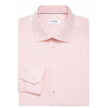 イートン Men Clothing Checked Dress Shirt