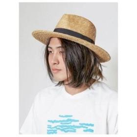 【カヤ】つば広麦わら帽 ナチュラル