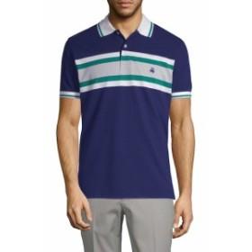 ブルックスブラザーズ Men Clothing Pique Stripe Cotton Polo Shirt
