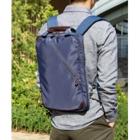 (KAZZU/カッズ)バッグ 薄マチ ビジネスリュック ビジネスバッグ メンズ 通勤バッグ 軽量 ビジカジ A4 2way ZARIO/メンズ ネイビー系1 送料無料
