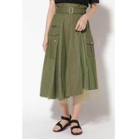 ROSE BUD / ローズ バッド チュール×カモフラ柄スカート