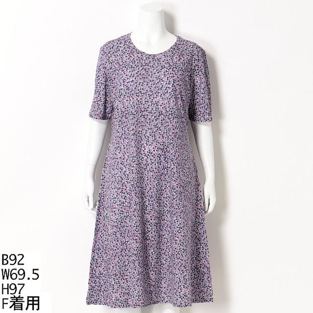 [マルイ]【セール】【大きいサイズ】水玉風プリントワンピース/ラクープ(LACOUPE)