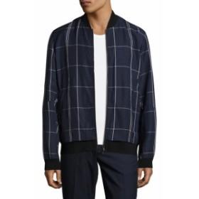 セオリー Men Clothing Articulated Checkered Bomber Jacket