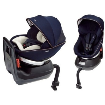 コンビ 新生児チャイルドシート クルムーヴ スマート エッグショック JG-550 ネイビー シートベルト取り付け