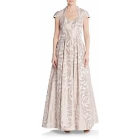 テイア レディース ワンピース Rose-Print A-Line Gown