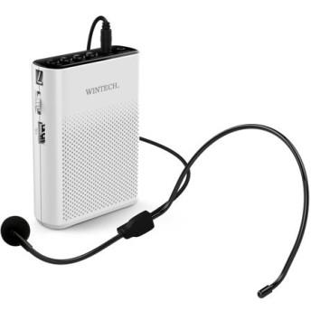 ポータブルハンズフリー拡声器 WINTECH KMA 200 KMA-200 ホワイトxブラック