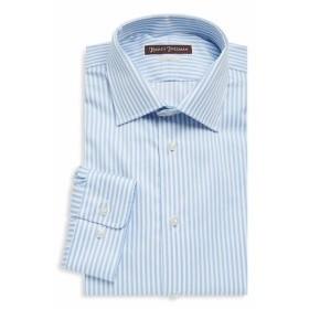 ヒッキーフリーマン Men Clothing Bengal Stripe Cotton Dress Shirt
