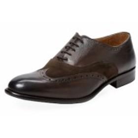 ウォール + ウォーター メンズ シューズ オックスフォード 革靴 Wingtip Leather Oxford