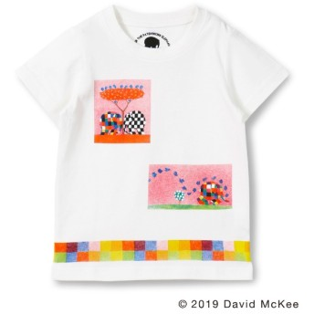 [マルイ]【セール】【ぞうのエルマー】ボックスアートプリントTシャツ/ブランシェス(branshes)