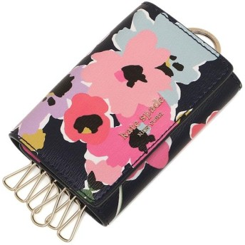 ケイトスペード キーケース KATE SPADE PWRU7263 428 SYLVIA WILDFLOWER BOUQUET KEY HOLDER 花柄 NAVY MULTI 紺