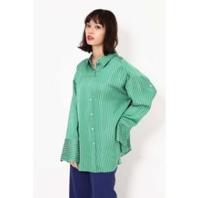 【ROSEBUD:トップス】サテンストライプシャツ