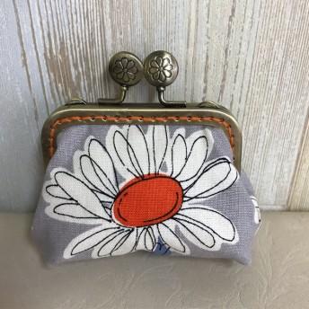 マーガレット花柄 ️がま口コインケース