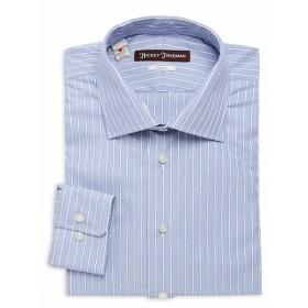 ヒッキーフリーマン Men Clothing Smart Casual Classic-Fit Cotton Dress Shirt