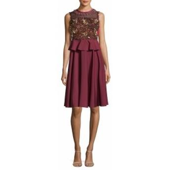 マヌーシュ レディース ワンピース Metallic Floral Dress