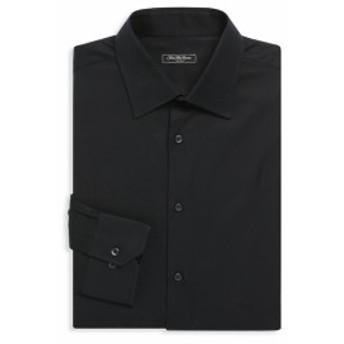 サックスフィフスアベニュー Men Clothing Regular-Fit Solid Dress Shirt